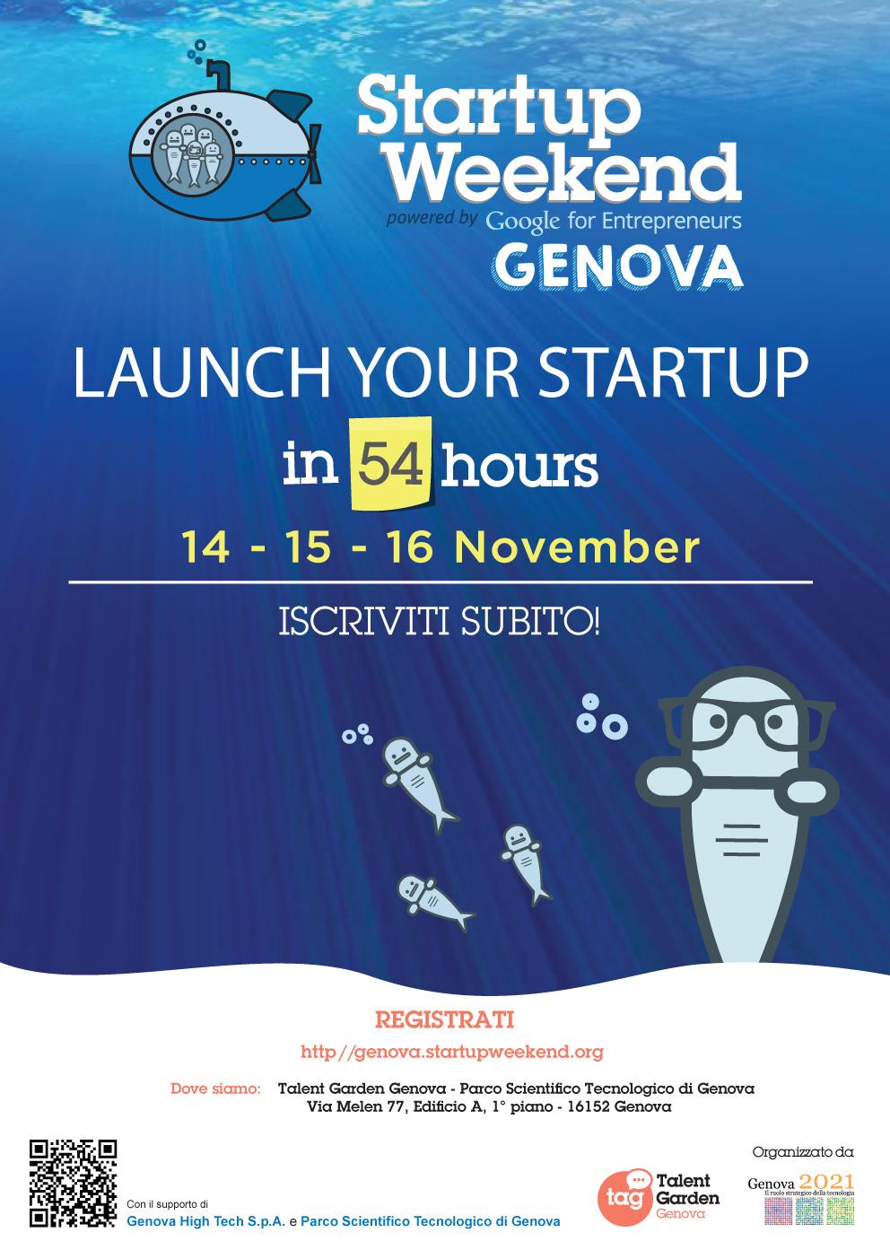 Startup Weekend GE14 Locandina2